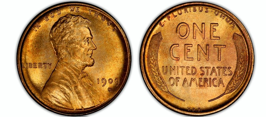 Lincoln Cents, Wheat Reverse (1909-1958)
