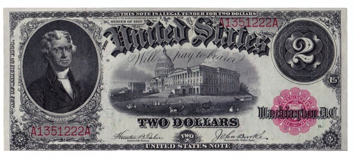 Fr. 57, Two Dollars, Series of 1917, W-327
