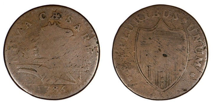 New Jersey 1786 Copper, Maris 16-L, 'protruding tongue' variety