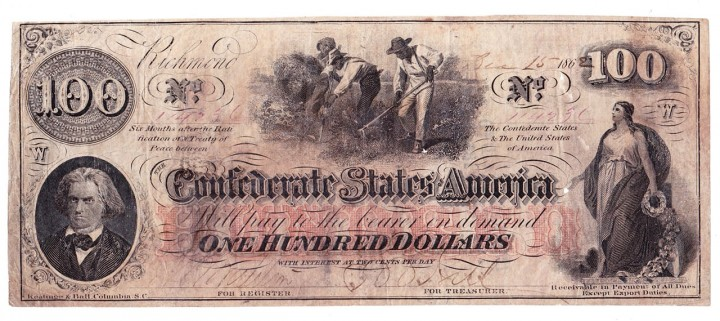 T-41 1862 Confederate States $100, PF-12, Cr. 317A, military issuer J. Ed. Caldwell