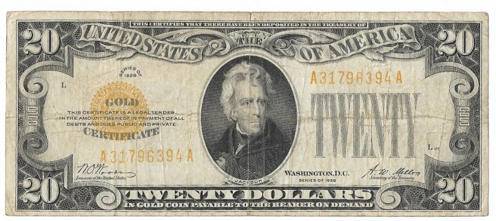 Fr. 2402, Twenty Dollars, Series of 1928, W-2450, Fine