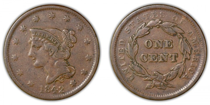1842 large date, VF-20